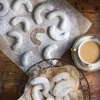 These Crescent Almond Cookies are nutty, vanilla-scented, sugar-dusted and delicious!