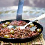 Cuban Picadillo: Ground Beef Stew with Tomatoes Olives and Raisins