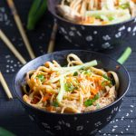Spicy Sesame Peanut Noodles with Chicken