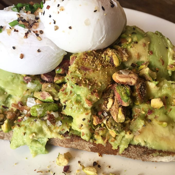 Avocado Toast from Hoxton Holborn London