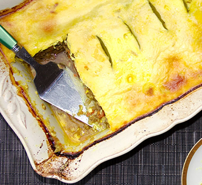 South African Boboti casserole - this is basically the best meatloaf ever!