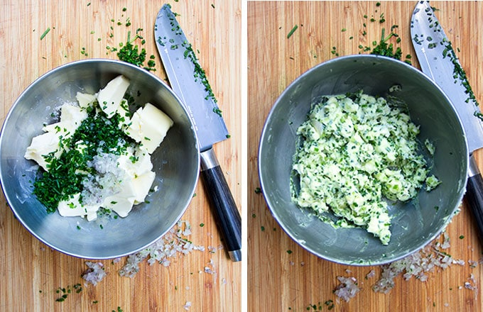 shallot chive compound butter