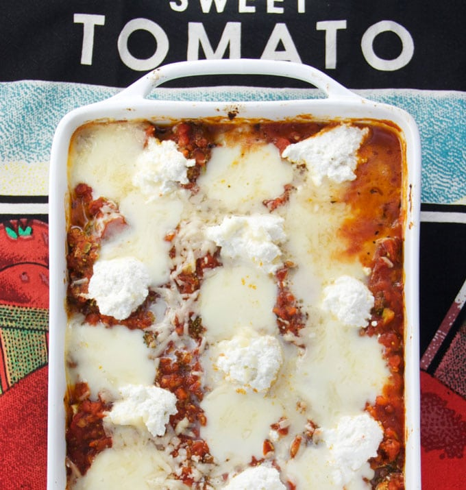 No Noodle Eggplant Lasagna