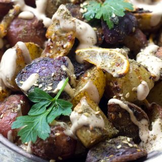 These roasted potatoes are ultra crisp on the outside, and they are flavored with the delicious Middle Eastern spice mix za'atar.