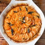 This potato tian is a beautiful side dish for a special occasion.