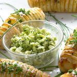 Holiday Hasselback Potatoes with Shallot Chive Butter