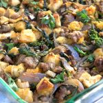 Italian sausage stuffing with broccoli rabe and parmesan, onions, garlic and a zing of hot paprika, (yummm!) Perfect for Thanksgiving I Panning The Globe