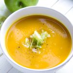 Caramelized onions, tangy green apples, warm toasted curry powder. and buttery squash - just four main ingredients are responsible for exciting flavor profile in this velvety rich, spicy, sweet, sour curried butternut squash soup recipe