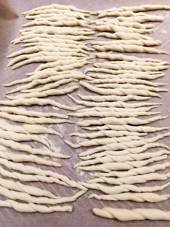 homemade trofie pasta