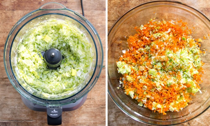how to shop veggies in a food processor