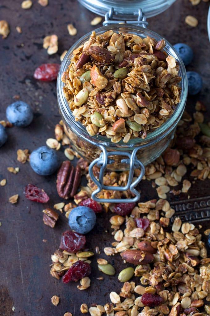 My Favorite Healthy Granola Recipe L Panning The Globe