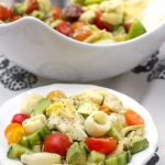 Hearts of Palm Salad with Artichoke Hearts, Cucumber, Tomato and Avocado