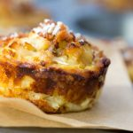 Mini Cauliflower Tarts with Potato Gruyere Crust and Bacon Parmesan Crumb Topping