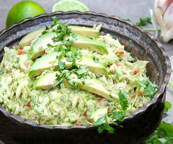 Make the most delicious avocado chicken salad by starting with homemade poached chicken