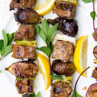 Grilled Lamb and Fig Skewers with Mint Pepper Glaze