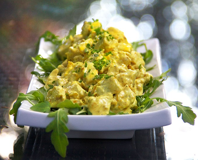 Start with freshly poached chicken to make the most delicious curried chicken salad.