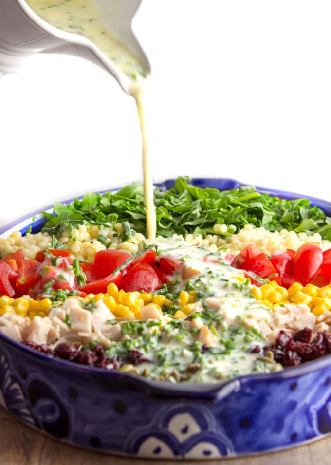 Chopped Salad With Herb Buttermilk Dressing Panning The Globe