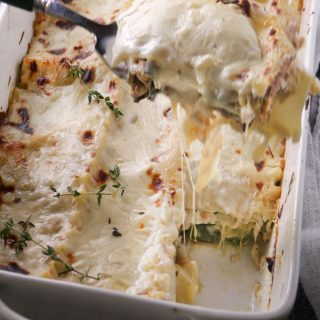 Tuscan Vegetarian Lasagna with Zucchini, Smoked Mozzarella and Béchamel Sauce