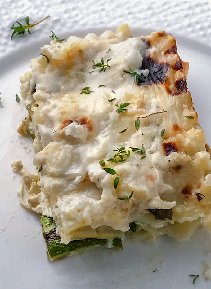 Vegetarian Lasagna With Zucchini Smoked Mozzarella And Bechamel