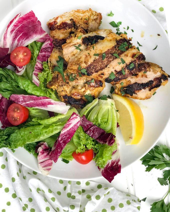 Ras El Hanout Grilled Chicken Thighs