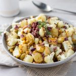 Roasted Cauliflower, Potatoes and Chickpeas with Kalamata Olive Vinaigrette