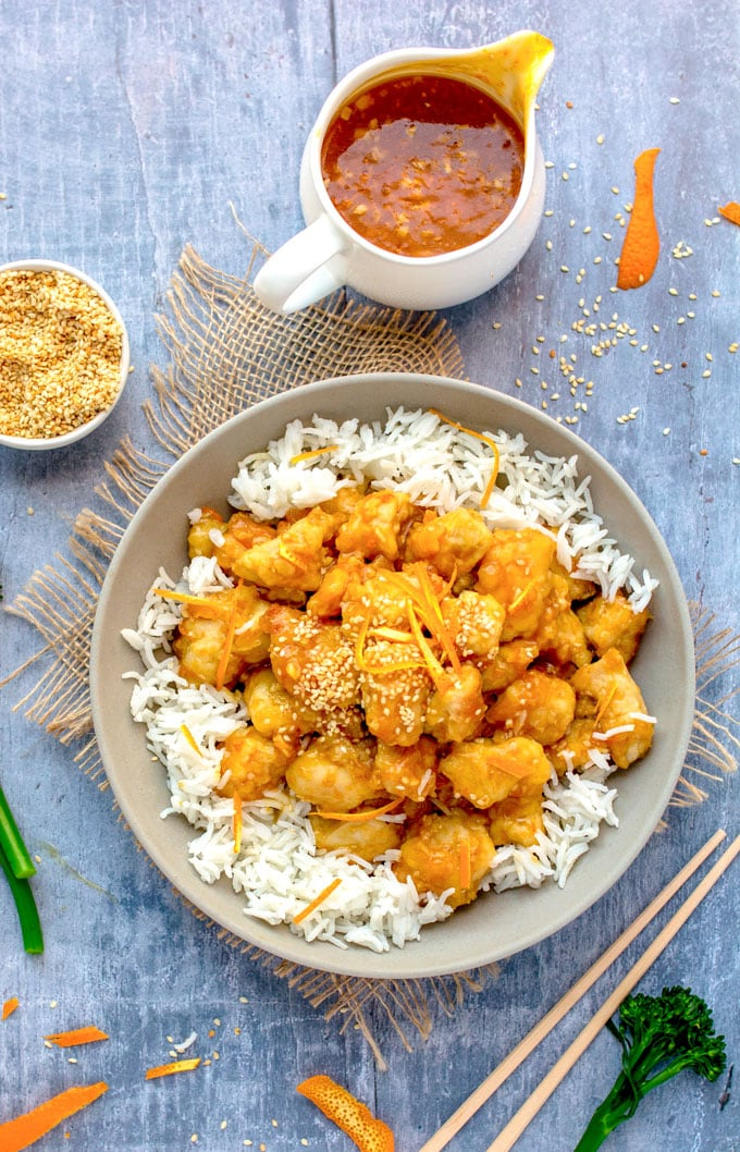 Chinese orange chicken panning the globe tender chunks of lightly battered chicken in sweet sour intensely orange glaze orange forumfinder Image collections