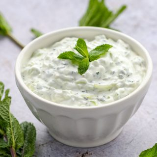 Cucumber Raita - a cooling, refreshing yogurt-based side dish to serve with hot and spicy Indian food. A quick and easy recipe l www.panningtheglobe.com