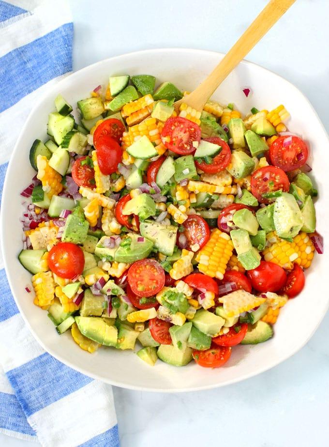 Corn Tomato Avocado Salad Summer S Perfect Salad