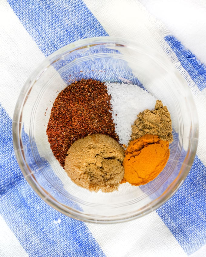 spices for making Indonesian sate
