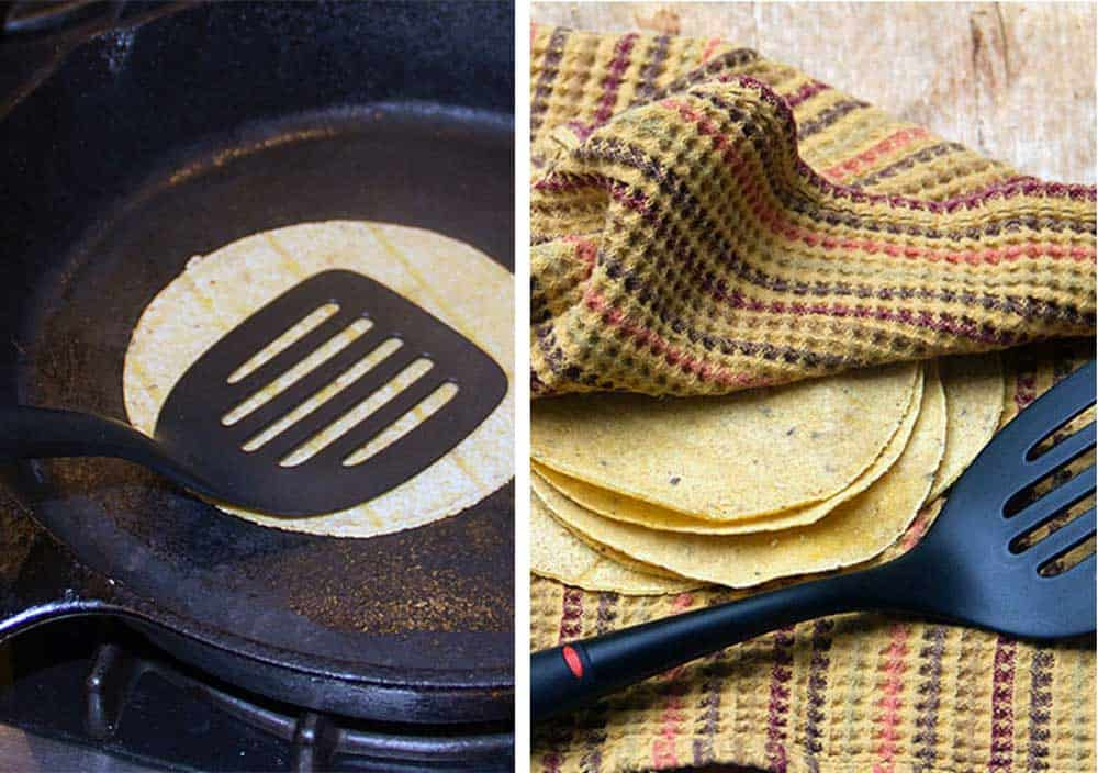 how to soften corn tortillas in a pan