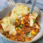 bowl of healthy shepherds pie