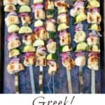 Greek chicken souvlaki skewers with zucchini