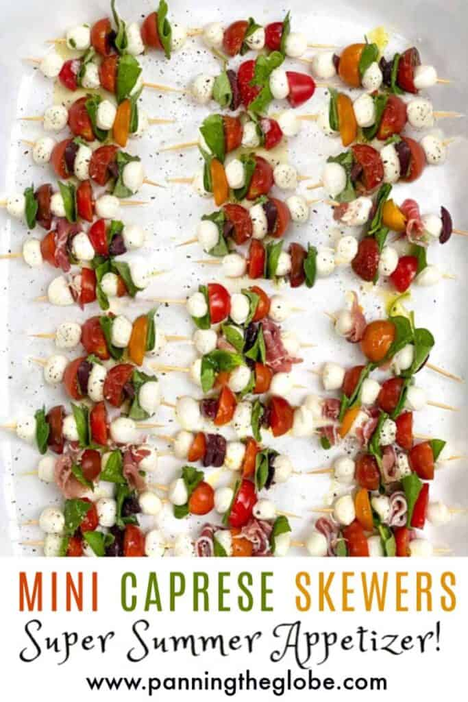Mini Caprese Salad Skewers pin